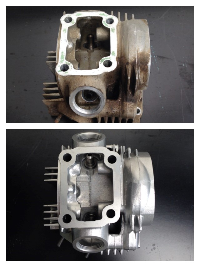 Honda CT110 head
